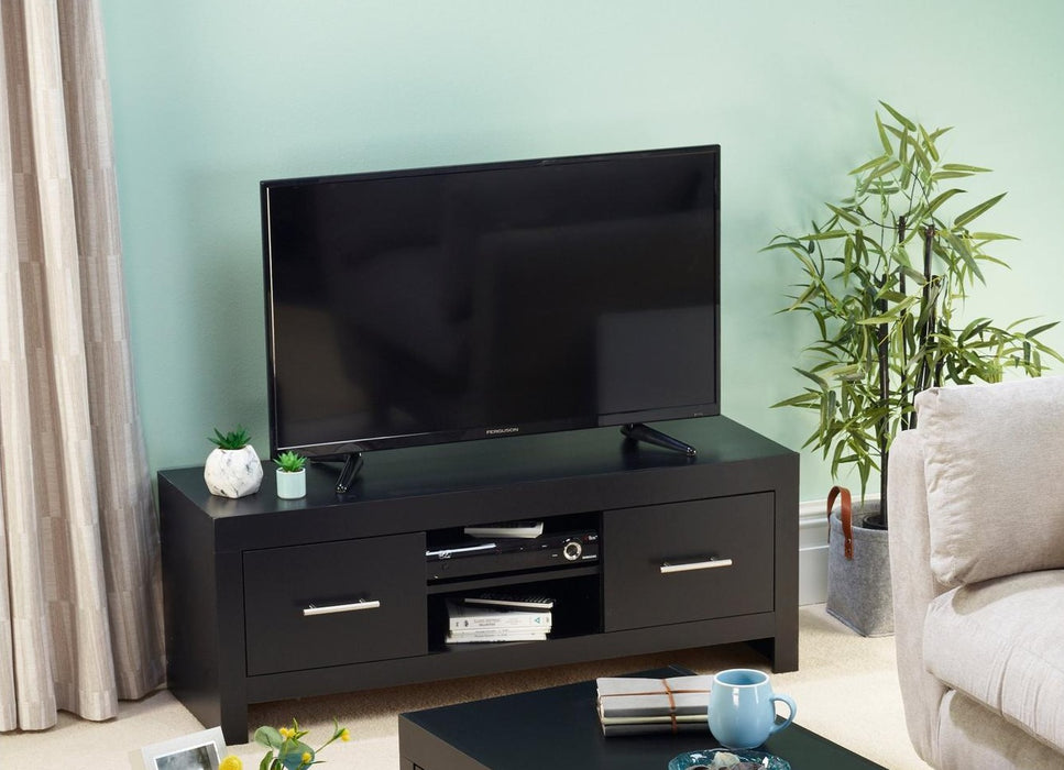 Bicester TV Unit With Drawers Black - ALREADY ASSEMBLED - Mayflower Furniture