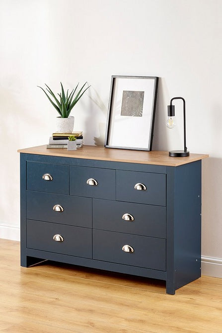Lancaster Chest of Drawers Blue Slate