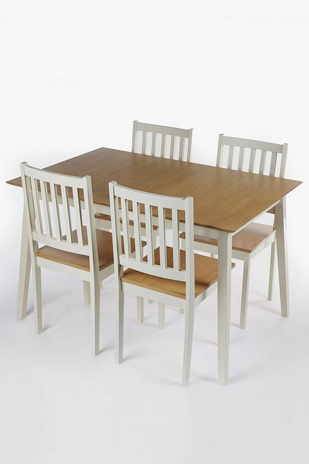 Sherbourne Five-Piece Extending Dining Set Cream