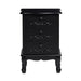Antoinette Three Drawer Chest White Or Black - Mayflower Furniture