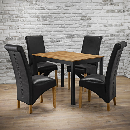 Budapest Five Piece Dining Set - Solid Oak - Mayflower Furniture