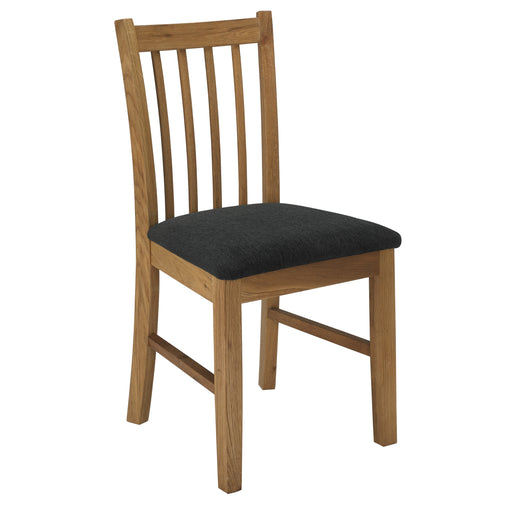 Brooklyn Pair Of Oak Dining Chairs - Mayflower Furniture