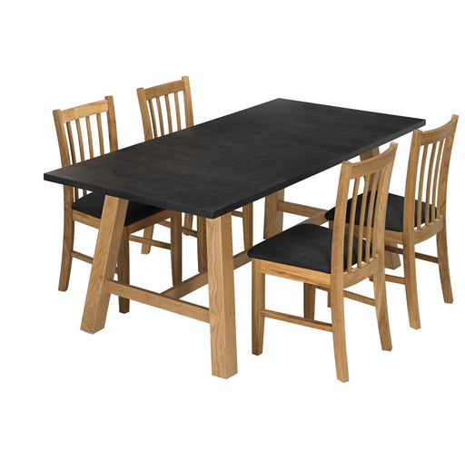 Brooklyn Dining Set Black Oak - Mayflower Furniture