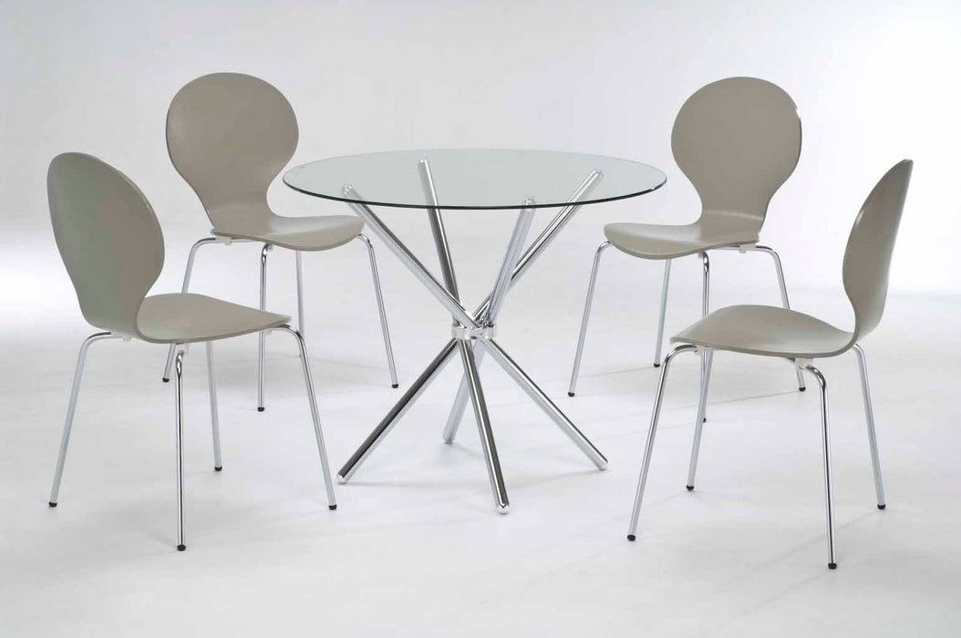 Casa Glass Dining Set - Five Colours - Mayflower Furniture