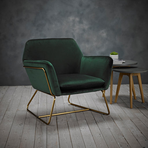 Charles Vintage Velvet Armchair - Three Colours - Mayflower Furniture