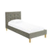 Camden Velvet Single Bed - Two Colours - Mayflower Furniture