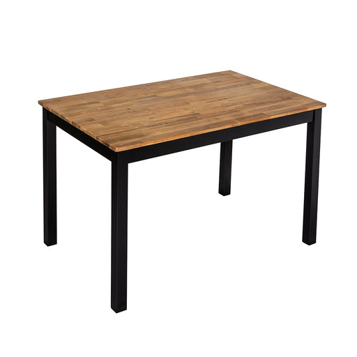 Budapest Black Frame Oiled Wood Dining Table - Mayflower Furniture