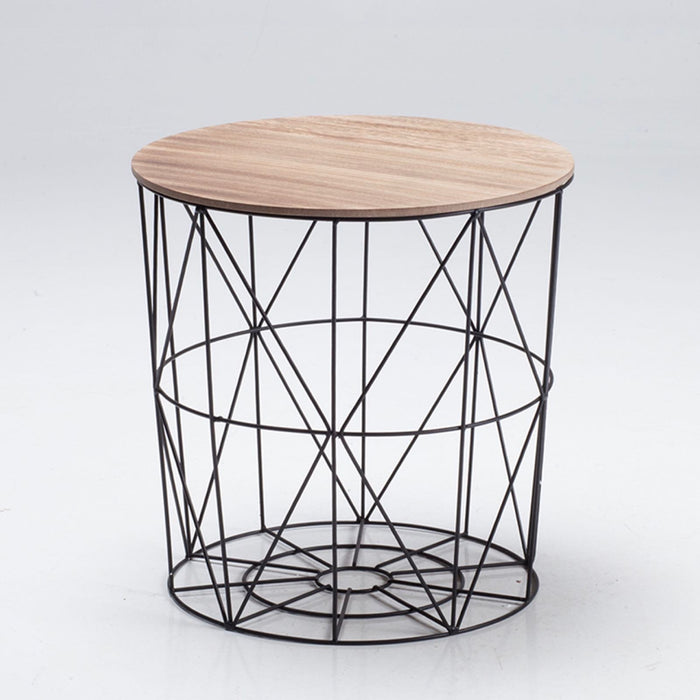 Cosmo Cage Black Side Table - Mayflower Furniture