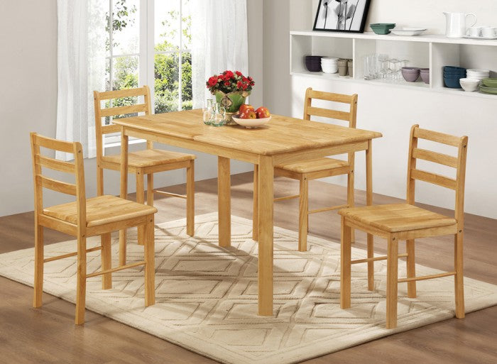 Country Budget Five Piece Dining Set Pine Wood - Mayflower Furniture