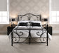 Florence Elegant Metal King Size Bed Black Or White - Mayflower Furniture