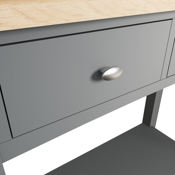 York Grey Two Drawer Console Table