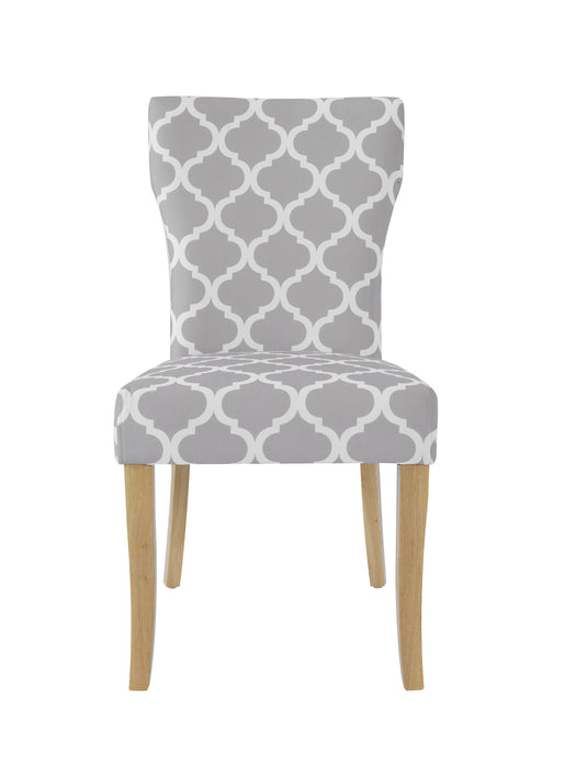 Hugo Pair Of Patterned Dining Chairs - Mayflower Furniture