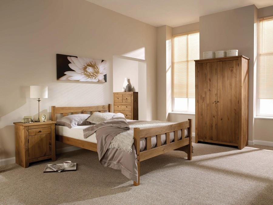 Varadero Solid Pine - Double Bed - Mayflower Furniture