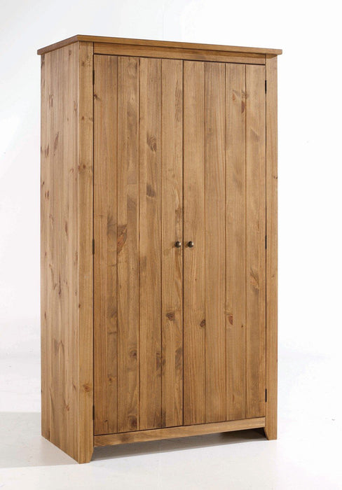 Varadero Solid Pine Two Door Wardrobe - Mayflower Furniture