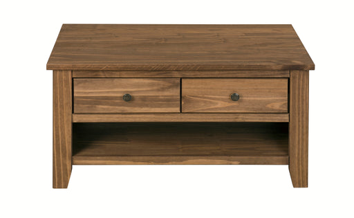 Havana Solid Pine Coffee Table With Drawers - Mayflower Furniture