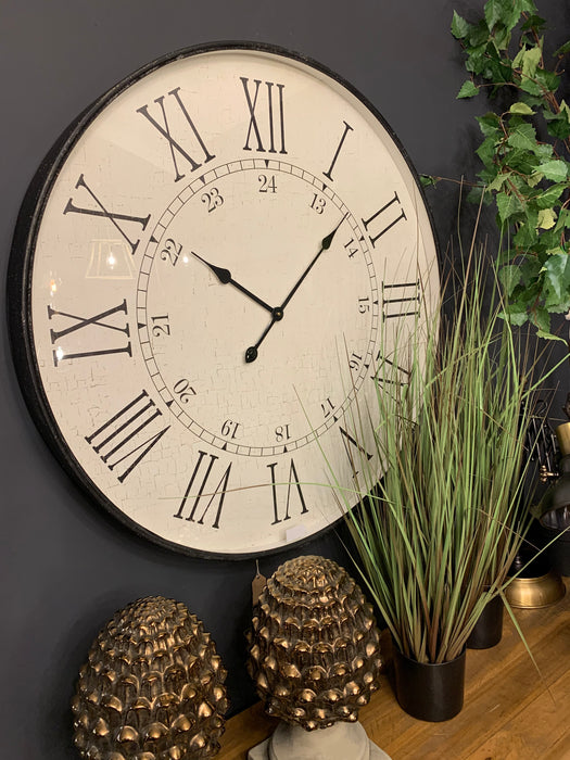 Large Embossed Station Clock - Mayflower Furniture