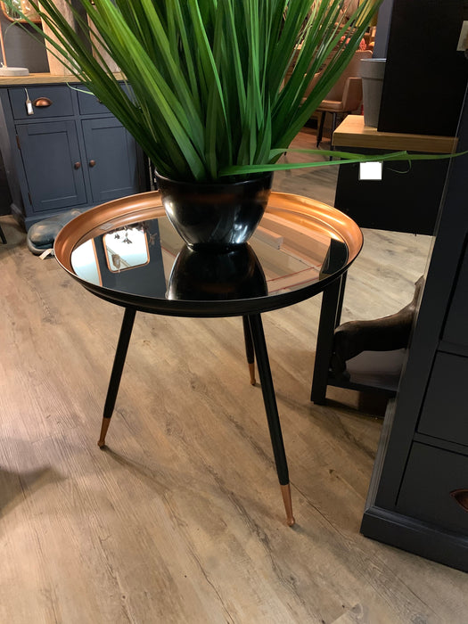 Antique Copper Effect Side Table - Mayflower Furniture