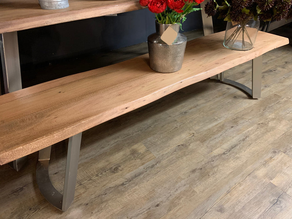 Live Edge Collection Sandblasted Dining Bench - Mayflower Furniture