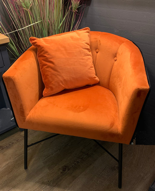Rust Velvet Urban Tub Chair - Mayflower Furniture