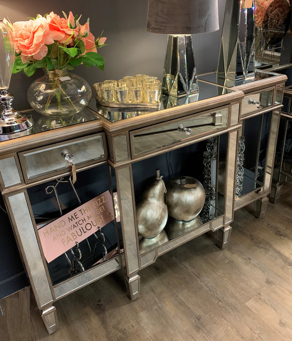 The Belfry Collection Mirrored Display Console - Mayflower Furniture