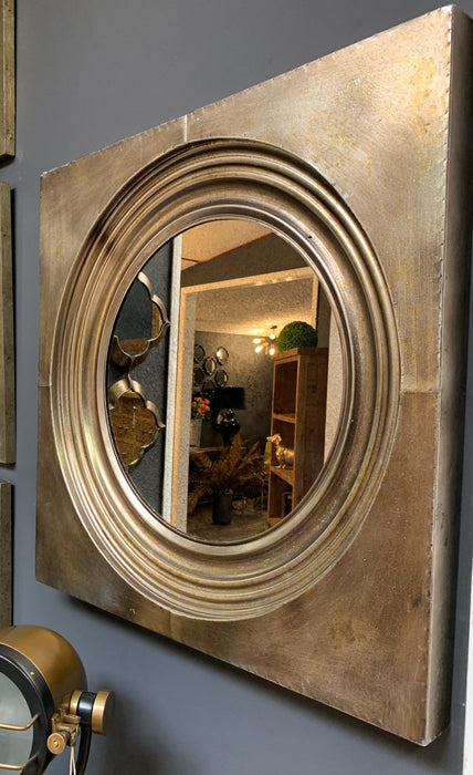 Stratton Bronze Mirror With Antique Glass - Mayflower Furniture