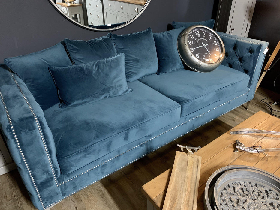 Darcy Three Seater Button Pressed Sofa - Mayflower Furniture