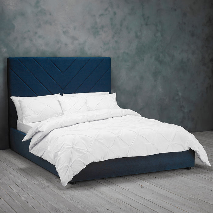 Oxford Velvet King Size Bed - Three Colours