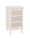 Juliette Three Drawer Bedside Table Cream - Mayflower Furniture
