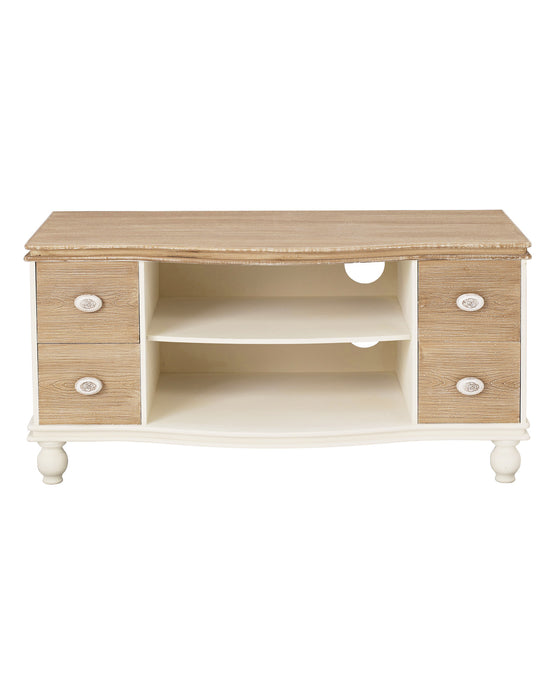 Juliette TV Media Unit With Drawers Cream - Mayflower Furniture