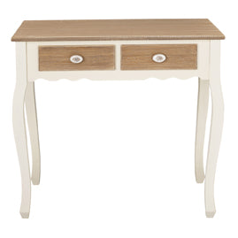 Juliette Cream Oak Console Table - Mayflower Furniture