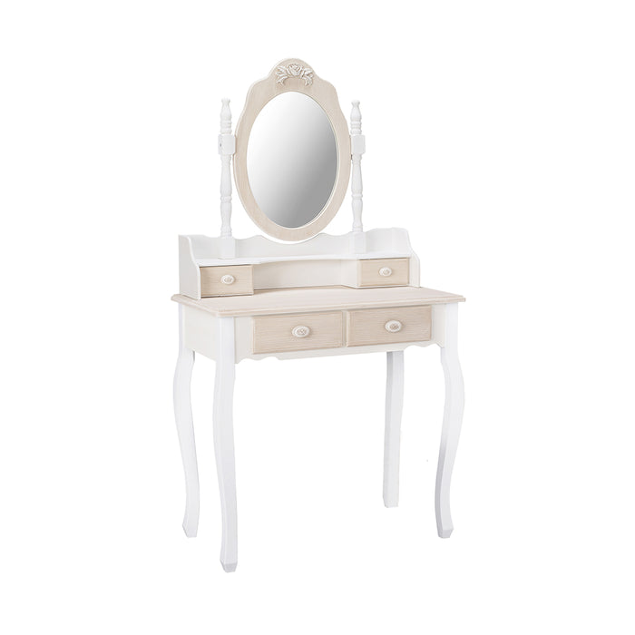 Juliette Dressing Table Set Cream - Mayflower Furniture