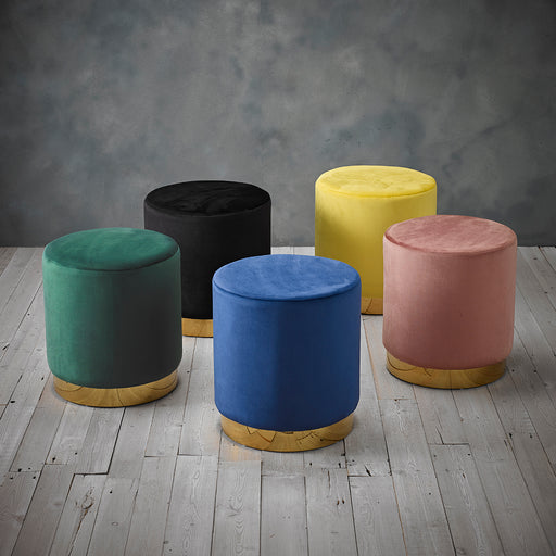 Lara Velvet Pouffe - Five Colours - Mayflower Furniture