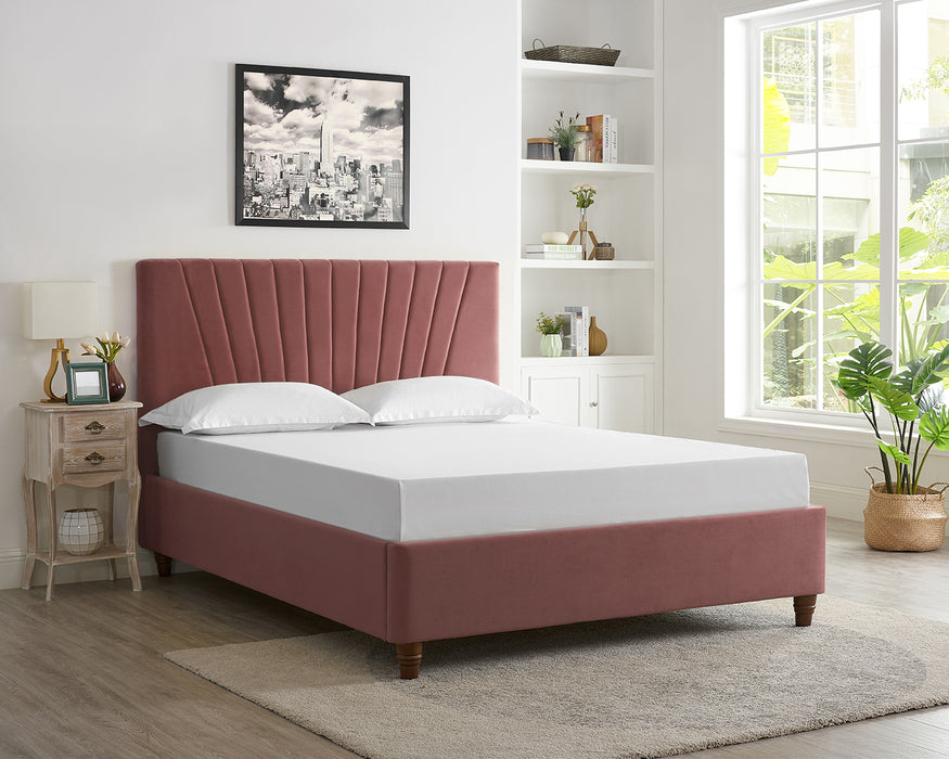 Alexis Velvet King Size Bed - Three Colours