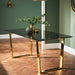 Antibes Black Glass Dining table - Mayflower Furniture