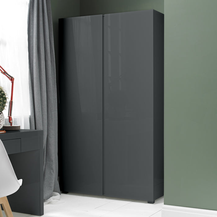 Puro High Gloss Two Door Wardrobe - Four Colours