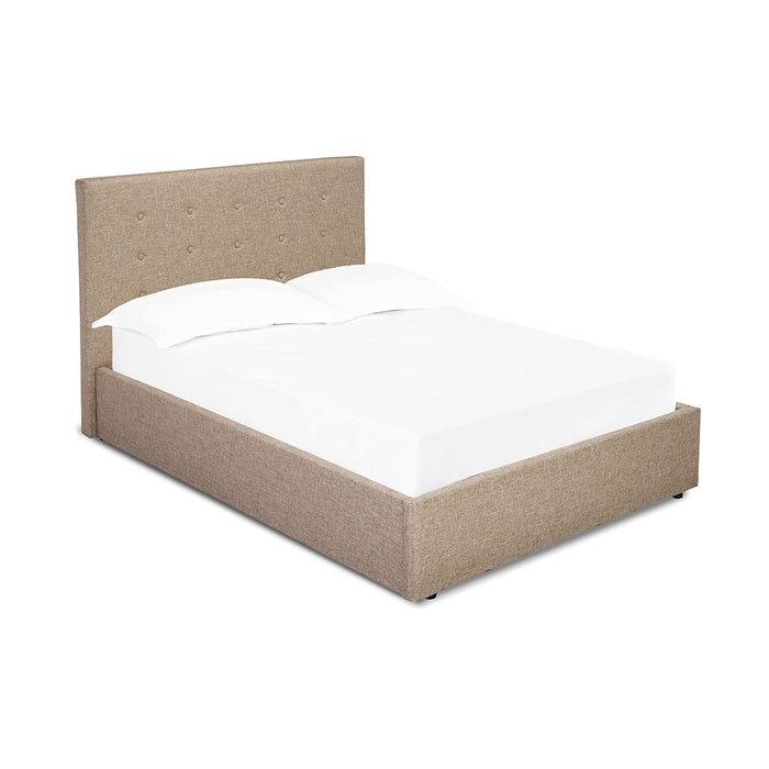 Lucca King Size Bed Beige Or Grey Fabric - Mayflower Furniture