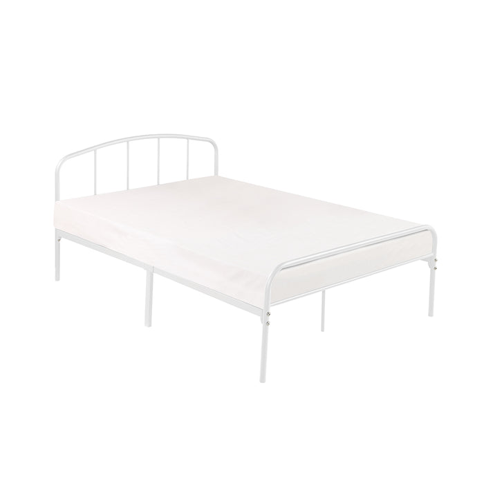 Milton Metal King Size Bed White or Black - Mayflower Furniture