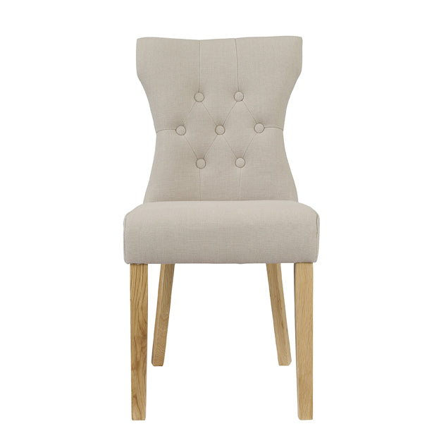 Naples Pair Of Fabric Dining Chairs - Two Colours - Mayflower Furniture