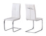 Opus Pair Of Faux Leather Dining Chairs - Three Colours - Mayflower Furniture