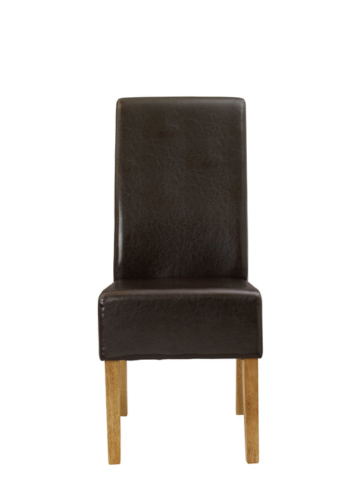Padstow Pair Of Faux Leather Dining Chairs - Three Colours - Mayflower Furniture