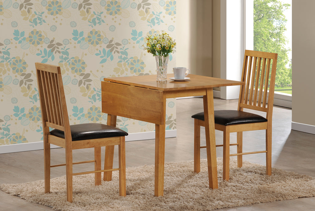 Palma Solid Wood Extendable Dining Set Black Oak - Mayflower Furniture