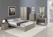 Puro High Gloss King Size Bed - Two Colours - Mayflower Furniture