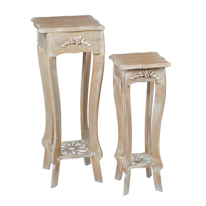 Provence Set of Two Solid Wood Plant Stand - Mayflower Furniture