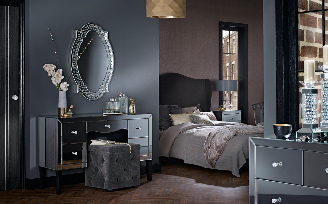 Valentina Mirrored Two Plus Two Drawer Chest - Mayflower Furniture