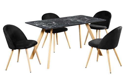 Venice Dining Table - White or Black Marble - Mayflower Furniture