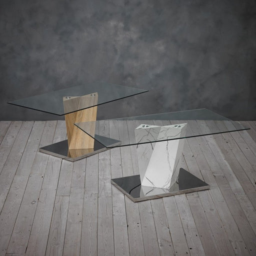Alpha Glass Coffee Table - Two Colours - Mayflower Furniture