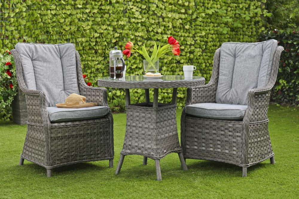 Pendleton Bistro Set - Dark Grey