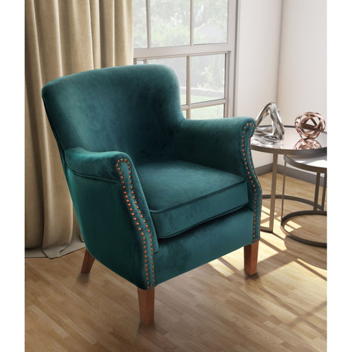Armchair Teal Velvet - Mayflower Furniture