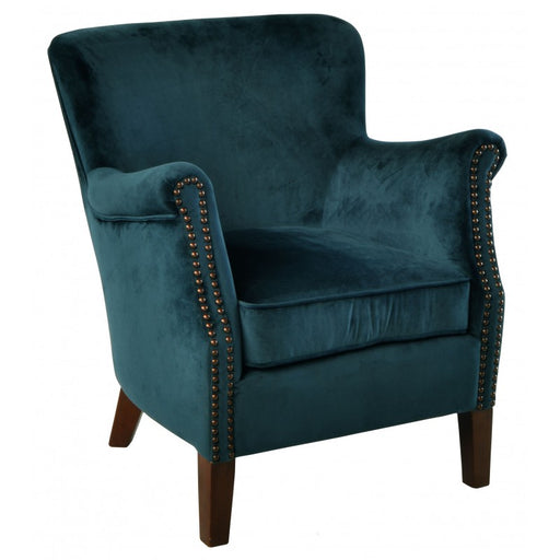 Armchair Blue Velvet - Mayflower Furniture