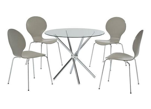 Casa Glass Dining Table With Chrome Legs - Mayflower Furniture